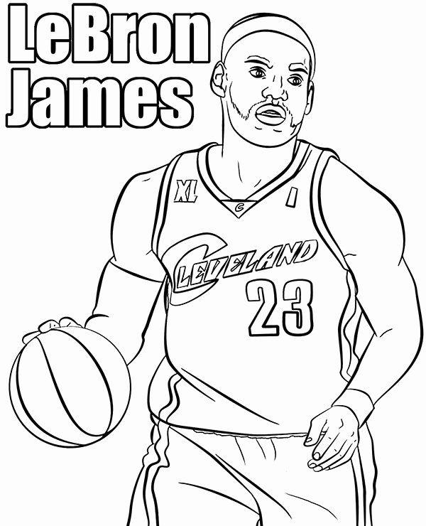 Lebron James Coloring Page Unique Basketball Players Coloring Page Le Bron James Printable Lebron James Lebron James Jr Coloring Pages