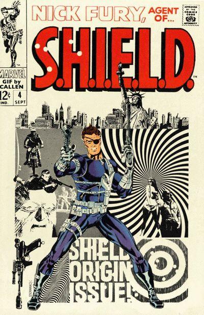 Uma super fodônica galeria de capas clássicas de histórias em quadrinhos animadas por Kerry Callen para os fãs de HQs curtirem ~ SuperVault