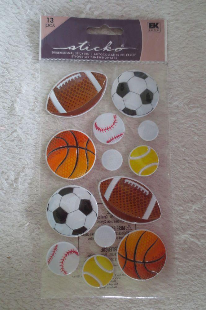 EK Success Sticko Sport  Dimensional Stickers New #EkSuccessSticko