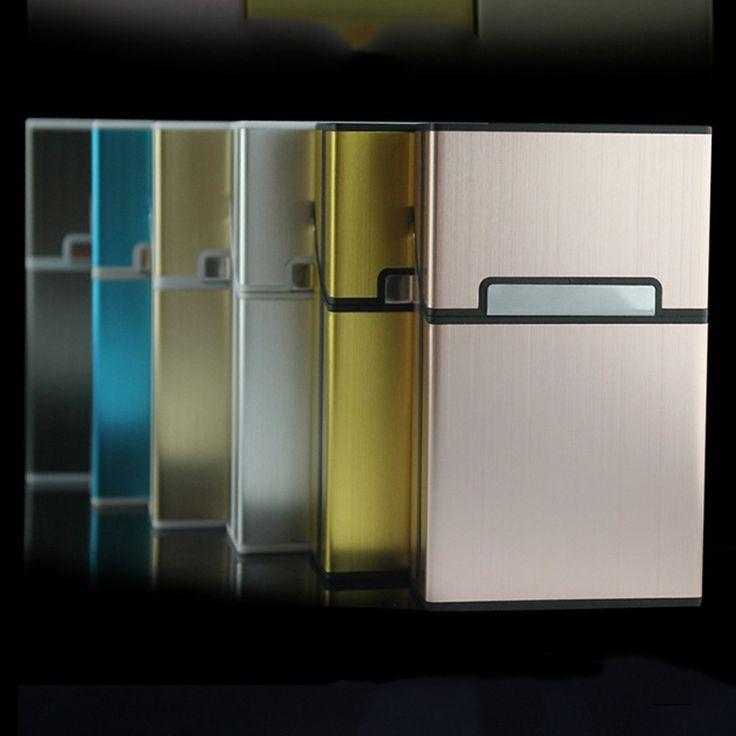 Thin Fashion Pipe Creative Personality Cigaret Case Slim Metal Cigarette Case Cigarette Box Aluminum Gift Box