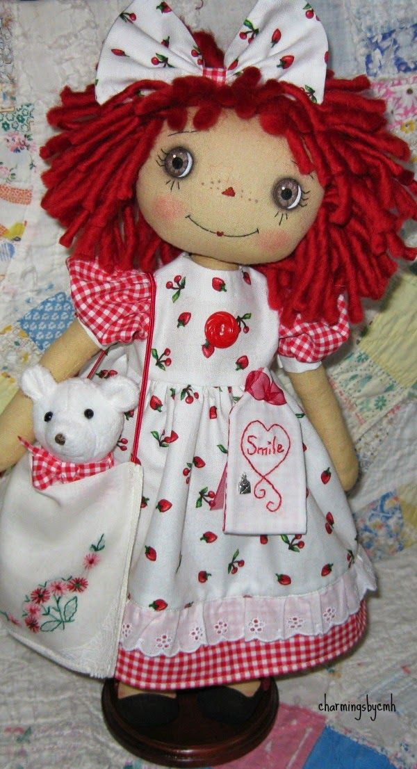 Raggedy Ann doll and friend