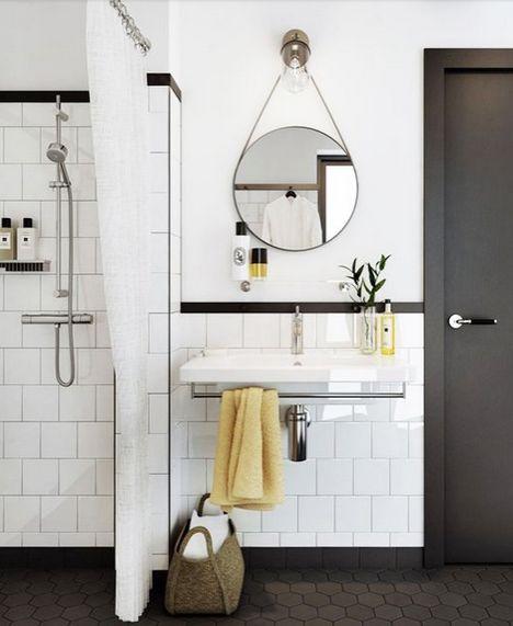 Great black pinstripe detail at the corner || Rosa Beltran Design