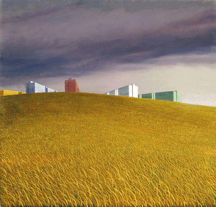 Jeffrey Smart  Australian contempory artist. He does modern alienation so well.
