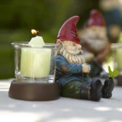 Gnorm - Napping Gnome Votive Holder $15