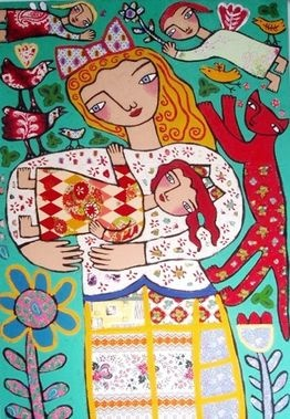 Mother and Daughter by Rebecca Cool