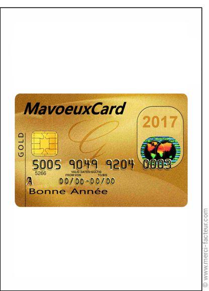 Carte de voeux bancaire - Carte de voeux humour 2017 par La Poste