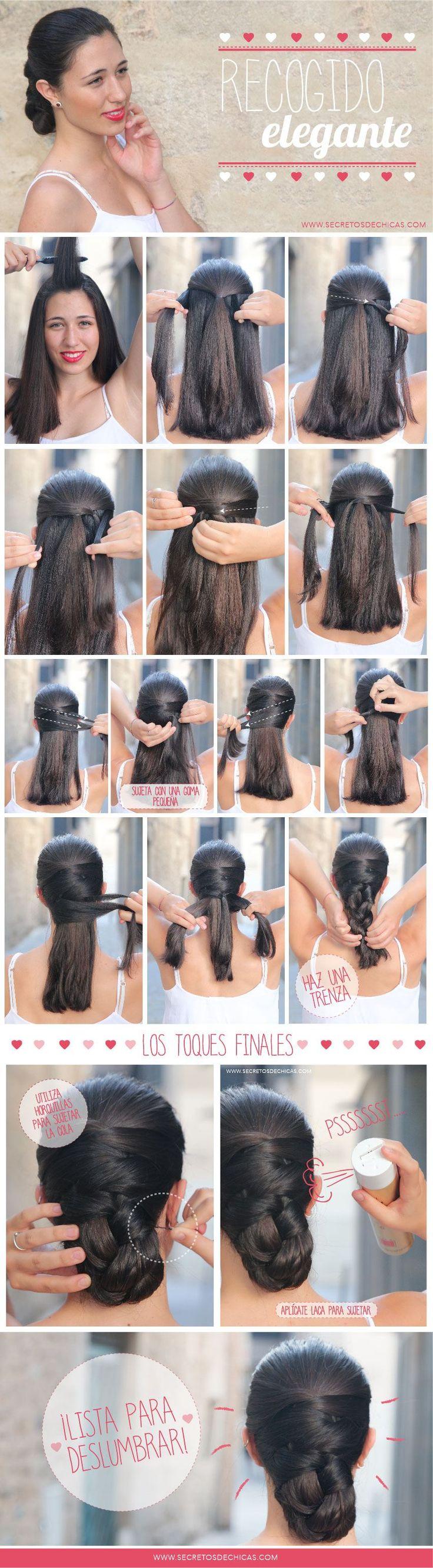 Mejores 31 im genes de peinados flamenca en pinterest - Ideas para porras ...
