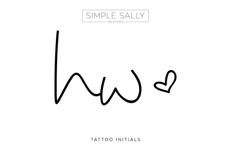 Tattoo Initials by Simple Sally. #hw #tattoo #initials #simple #tattooideas