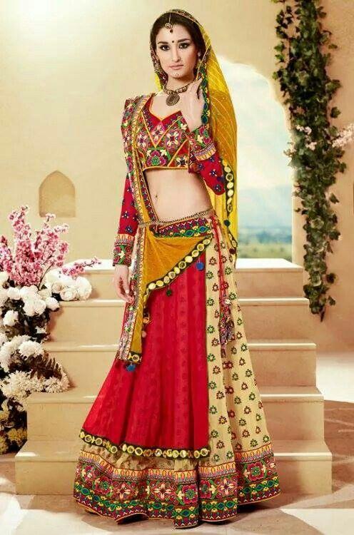 Rajasthani style chania choli | Wedding styles | Pinterest ...