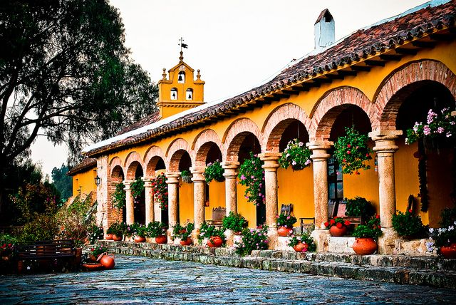 Veranda exterior - Hacienda del Salitre - Paipa, Colombia   Flickr - Photo Sharing!