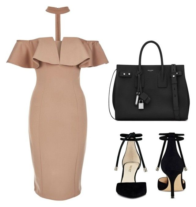 """Sin título #12"" by maria-camila-silva on Polyvore featuring moda, Rare London, Nine West y Yves Saint Laurent"