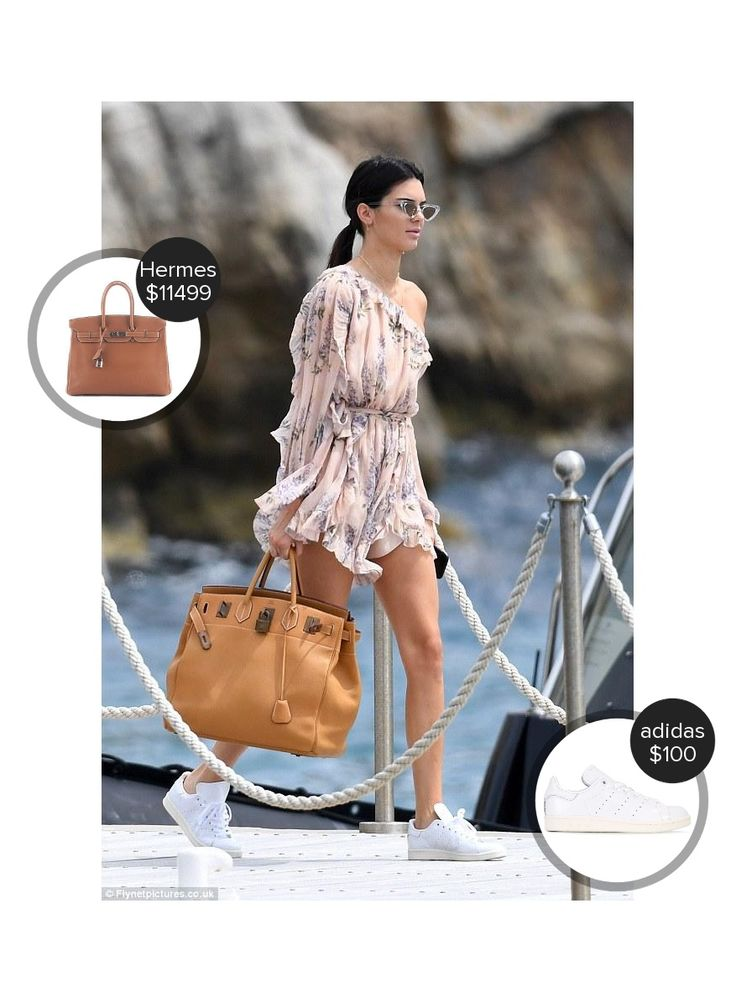 Kendall Jenner Cannes - seen in Le Specs, adidas and carrying Hermes. #hermes #lespecs #adidas  #kendalljenner @mode.ai
