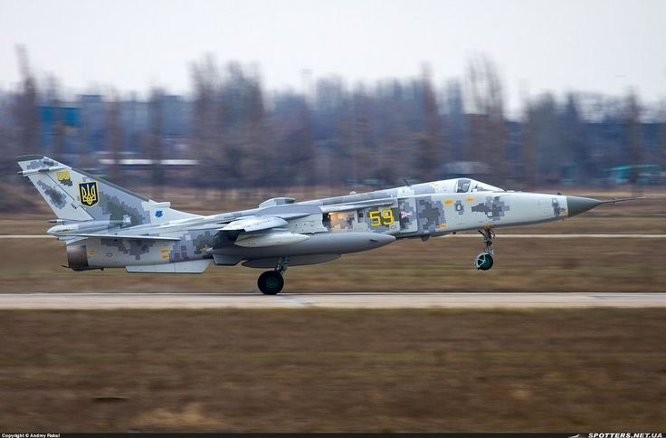 "Ukrainian Air Force Sukhoi Su-24M ""Fencer"""