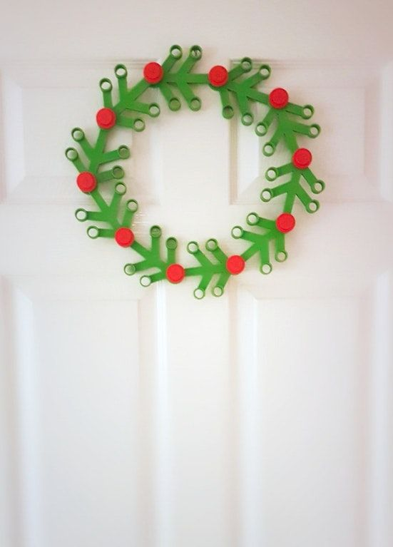 My 3D printed oversized LEGO wreath :) : lego | Lego | Pinterest | Lego