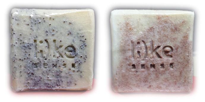 Φυσικά σαπούνια με σπόρο παπαρούνας ή με κουκούτσι Ελιάς για την απολέπιση του σώματος Το τεμάχιο 120-135gr 5€ και 5,5€ αντίστοιχα