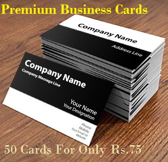 Personalized Premium Business Cards – Get 50 Cards For Only Rs.75