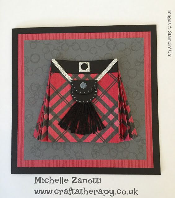 Michelle Zanotti ~ Stampin' Up! Demonstrator UK - World Card making Day Blog Hop using current Stampin' Up! Product | Kilt | Tartan | Scottish |Warmth & Cheer Designer Series Paper