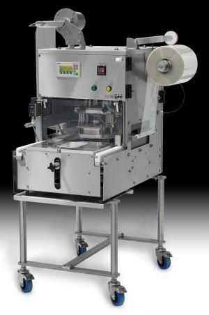 "Semi-automatic cup sealing machine with ""no vacuum"" gas flush for food industry 