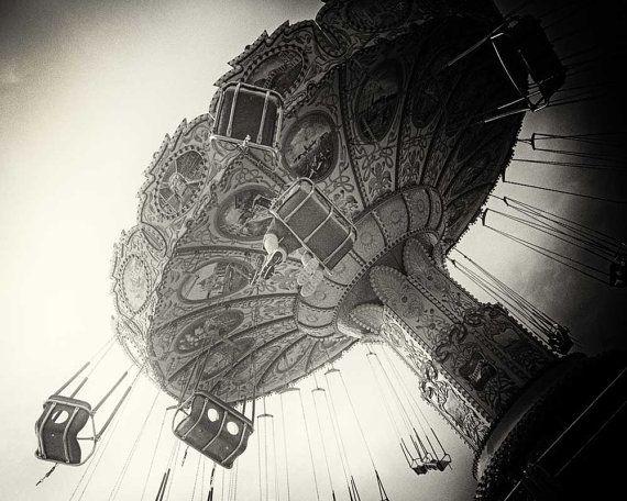Carnival Photo Pinhole Photo Swing Ride Modern By CarlChristensen, $75.00