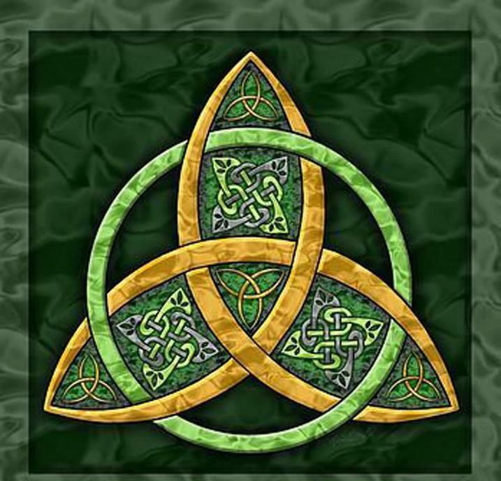 Trinity Knot. Symbol of Ireland.