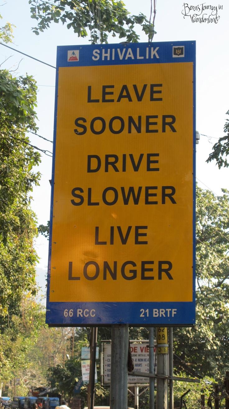 """""""Leave sooner. Drive slower. Live longer."""""""