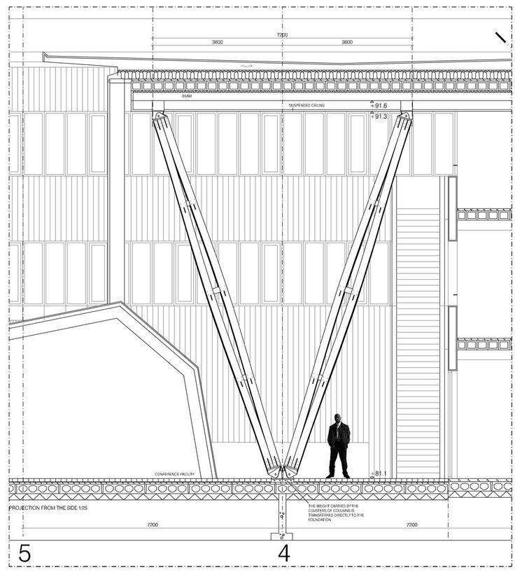 7 mejores im genes de cortes por fachada en pinterest for V column architecture