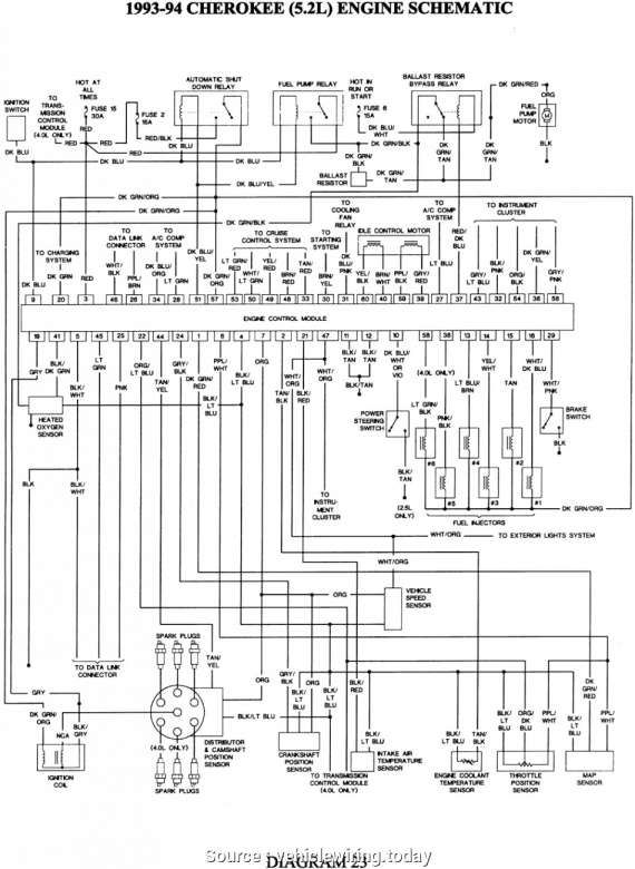 12 93 Jeep Cherokee Engine Wiring Diagram Jeep Cherokee Jeep Wrangler Engine Jeep Grand Cherokee
