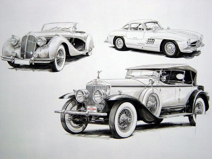 Рисунки ретро автомобилей. Обсуждение на LiveInternet - Российский Сервис Онлайн-Дневников