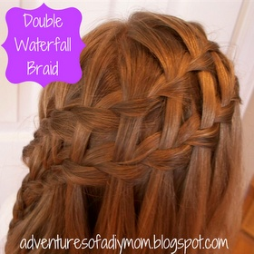 Double Waterfall Braid This would be a cute Christmas hairstyle ...