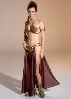 "The iconic ""slave Leia"" costume - I told Justin this was my weight loss goal, lol."