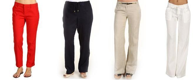 Льняные брюки женские купить
