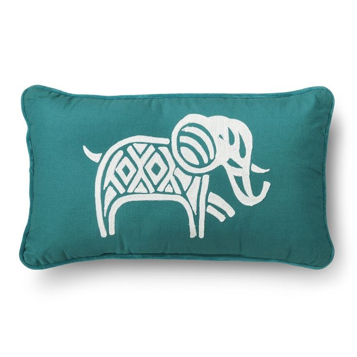 Threshold� Elephant Throw Pillow - Teal 24.99 at target! I want it!!
