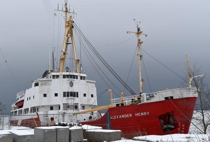 the former Canadian Coast Guard light icebreaker and buoy tender that was launched in 1958 and taken out of service in 1984 is now permanently docked here in Thunder Bay and in the Spring of 2018 will be available for people to tour...December 17th 2017