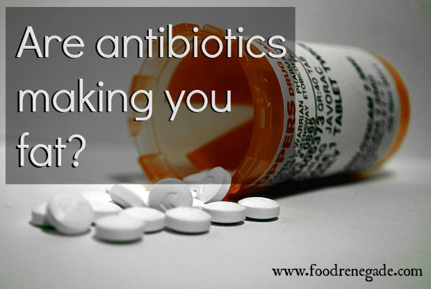 WHOA. It's not just the antibiotics YOU take, but also the residual antibiotics found in your food if you eat conventionally-raised meat & dairy!