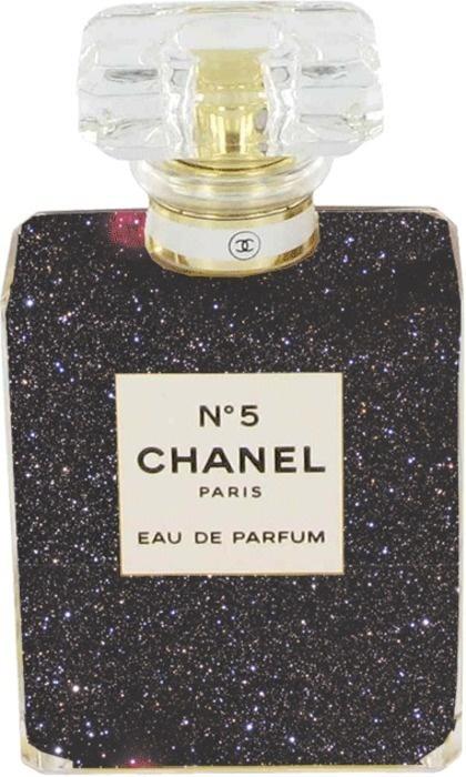 smells like teen spirit #chanelFragrance, Coco Chanel, Chanel No5, Beautiful, Perfume Bottle, Things, Glitter, Bottle Design, Black