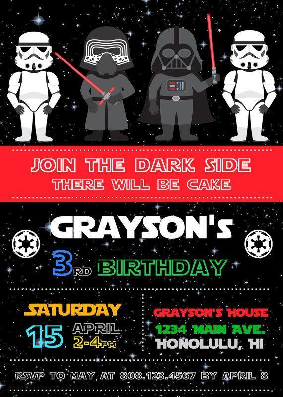 Starwars Invitation Star Wars Birthday Party