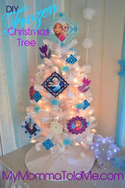 Easy DIY Frozen Christmas Ornaments & Tree Topper - My Momma Told Me