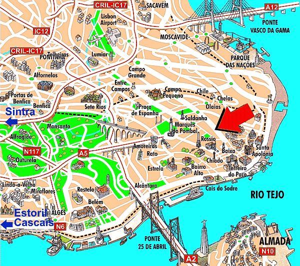 Best Lisbon Images On Pinterest Lisbon Sintra Portugal And - Portugal hotel map