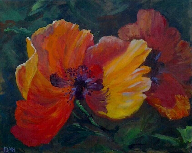 Poppies  Oil on canvas