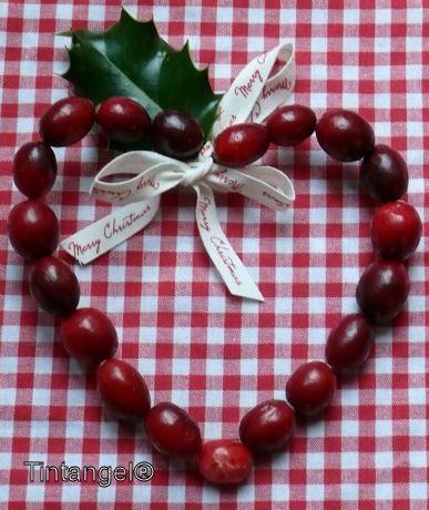 kerstversiering in een vorm van een hartje