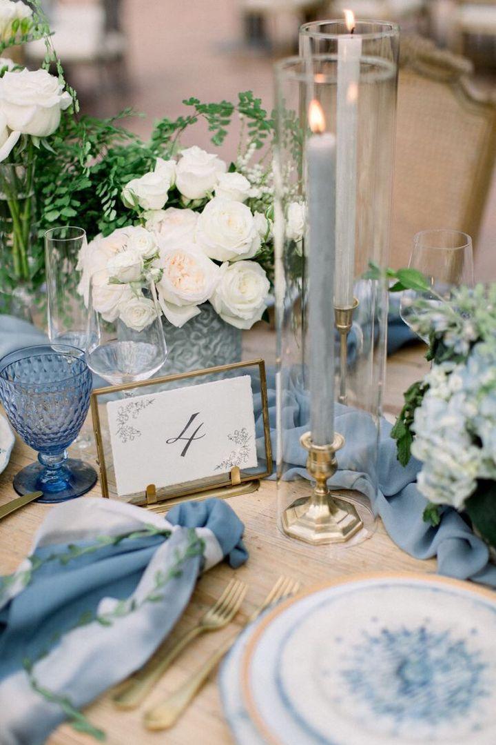 Wedding Decor Gallery 50 Unique Ideas My Sweet Engagement Blue Wedding Decorations Wedding Table Centerpieces Dreamy Wedding