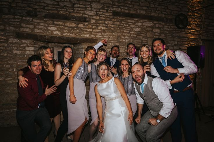 When someone shouts group photo! Photo by Benjamin Stuart Photography #weddingphotography #groupphoto #weddingfun #party #eveningfun #friends