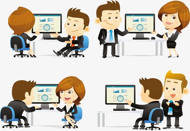 Cartoon Business People Business Business People Cartoon Png