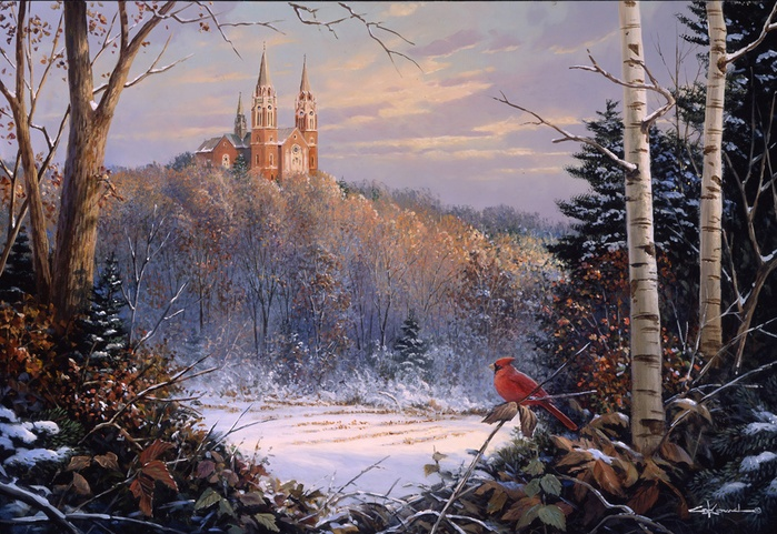 Holy Hill Royalty By George Kovach Stunning Cardinal