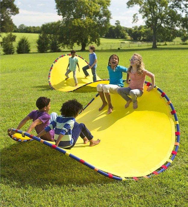 An insanely cool chair-rocker-hammock that looks like a huge Pringle chip. | 23 Impossibly Fun Gifts For Kids That Even Adults Will Want