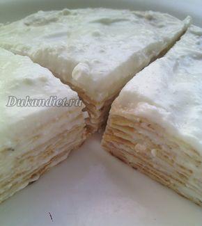 Творожный блинный тортик   Диета Дюкана