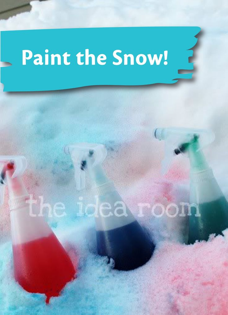take the mess outside and learn how to paint the snow this winter kids - Kids Pictures To Paint