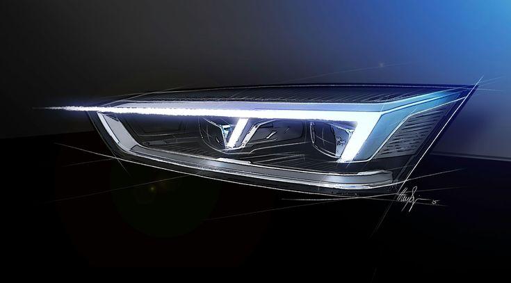 Audi A5 Coupe - Headlight Design Sketch Render