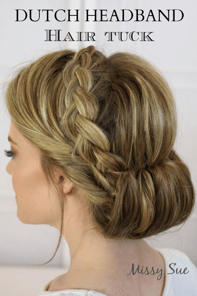 Dutch Headband Hair Tuck   MissySue.com