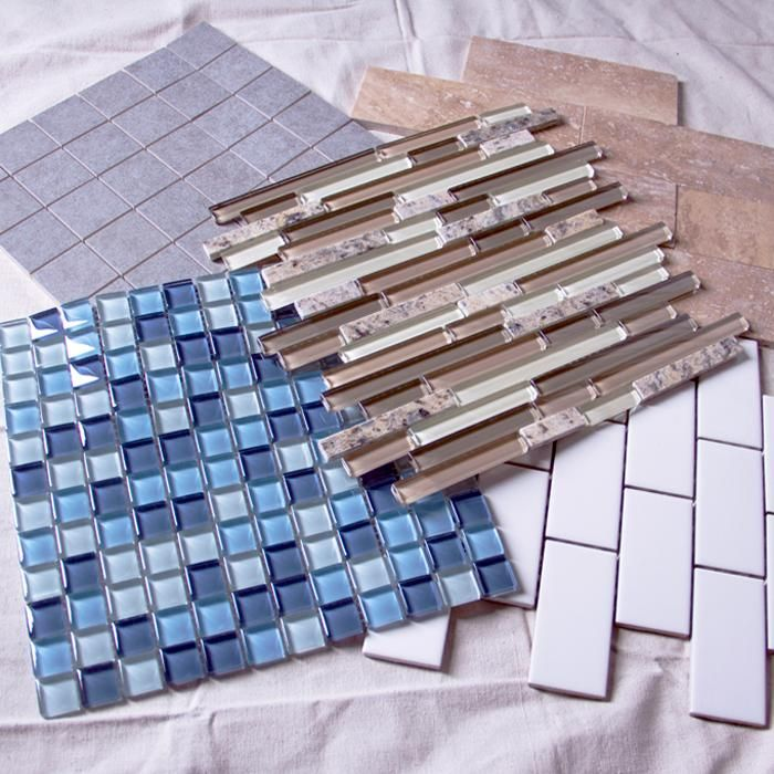 Add pizazz to your bathroom with peel and stick tile. You'll love how easy it is!